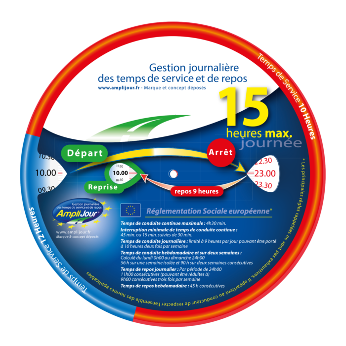 Amplijour - Disque 15h standard