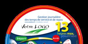 Amplijour - Disque 13h - demi - personnalisable