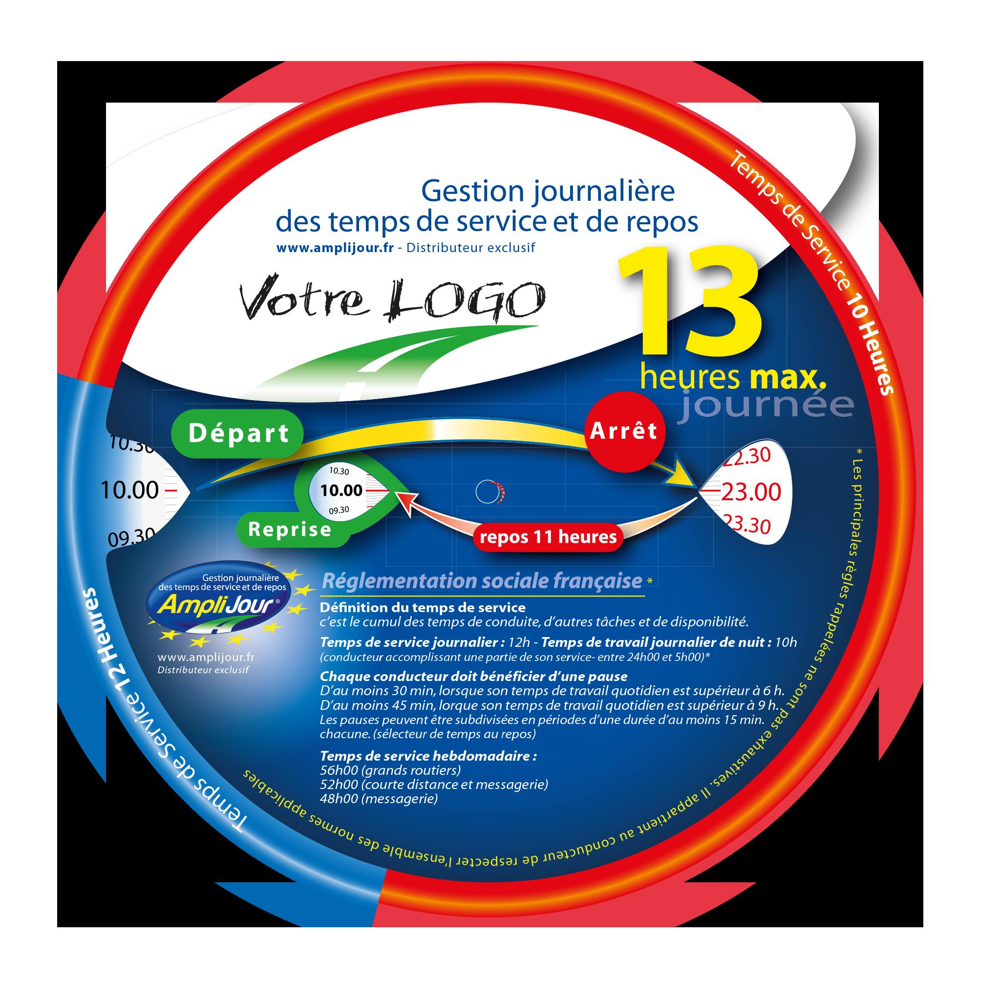 Amplijour - Disque 13h personnalisable
